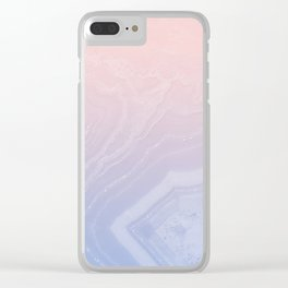 Faded Agate Royal Stain Clear iPhone Case