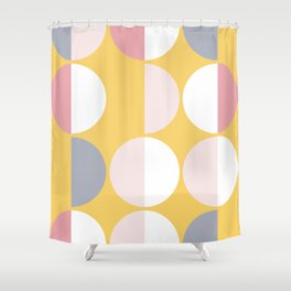 Mid Century Modern Moon & Sun Pattern 2 Shower Curtain