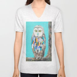 Imaginary owl Unisex V-Neck