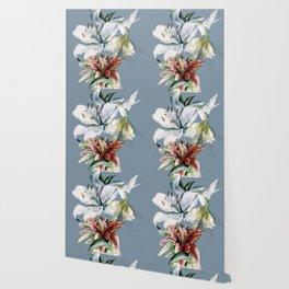 Hummingbird with Flowers Wallpaper