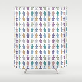 DNA_Busts Shower Curtain