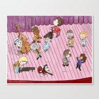 tenenbaums Canvas Prints featuring O Tenenbaums! by JessLane
