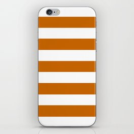 Asda Orange - solid color - white stripes pattern iPhone Skin