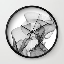Smoked lines Wall Clock