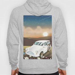 Vintage Car in the sunset. Hoody