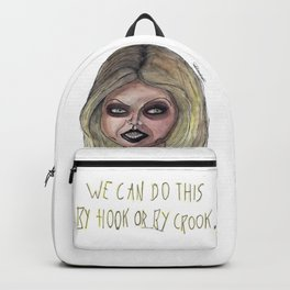 By hook or by crook. Backpack
