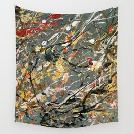 Jackson Pollock Interpretation Acrylics On Canvas Splash Drip Action Painting Wall Tapestry