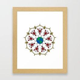 Crawfish Mandala Framed Art Print