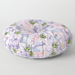 Poinsettia Petals Floor Pillow