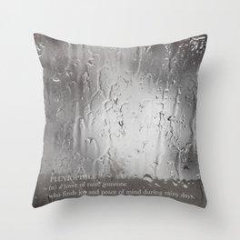 the rain, the pain Throw Pillow