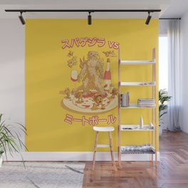 Spaghetti vs Meatballs Wall Mural