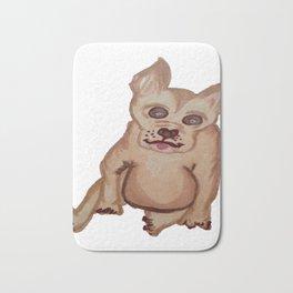 Dog with pointy ears Bath Mat