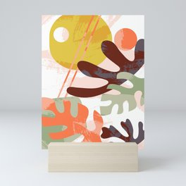 Paper Cut Leaves Mini Art Print
