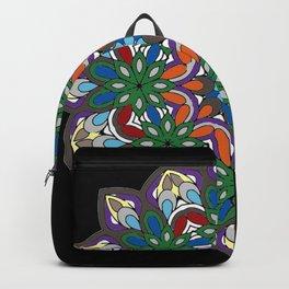 Mandala colorida Backpack