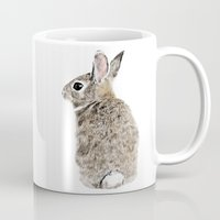rabbit Mugs featuring Rabbit by Anna Shell
