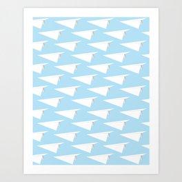 Paper Fleet blue Art Print