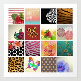 Color Me Girly Collage Art Print