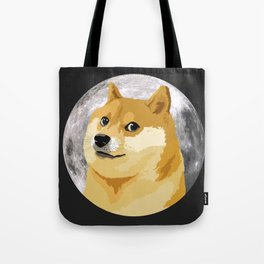 Doge to the Moon! Tote Bag
