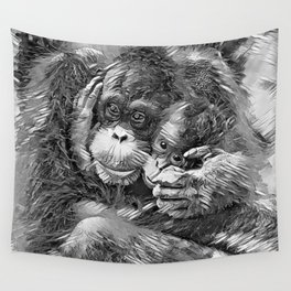 AnimalArtBW_OrangUtan_20170603_by_JAMColors-Special Wall Tapestry