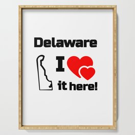 Delaware I Love It Here! Serving Tray