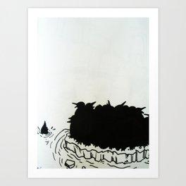 """No."" Lone Penguin Art Print"