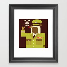 Major Winston Bulldog Framed Art Print