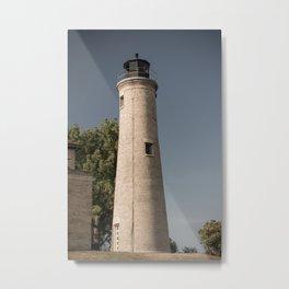 Kenosha Southport Light Station Light Tower Lighthouse Lake Michigan Metal Print