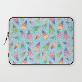 Colorful Christmas Trees Laptop Sleeve