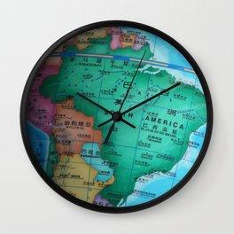 South America Wall Clock