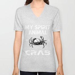Spirit Animal Crab Unisex V-Neck