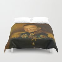 robin williams Duvet Covers featuring Robin Williams - replaceface by replaceface