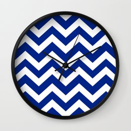 Resolution blue - blue color - Zigzag Chevron Pattern Wall Clock