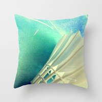feather Throw Pillows featuring Feather by Yilan