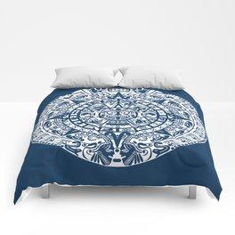 Mayan Calendar // Navy Blue Comforters