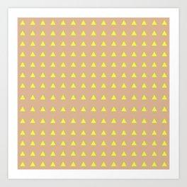 Neon Triangles - Yellow Art Print