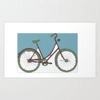 bicycle Art Prints featuring Bicycle by March Hunger