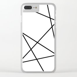 Lines in Chaos II - White Clear iPhone Case