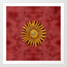 """""""Aztec Sun and pickled coral"""" Art Print"""