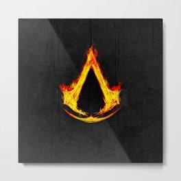 Creed Assassin Flame Metal Print