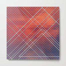 Geometric Volcano Metal Print