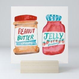 Peanut Butter & Jelly Watercolor Mini Art Print