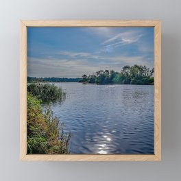 A view up the River Yare Framed Mini Art Print