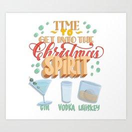 Time to get into the Christmas spirit Art Print
