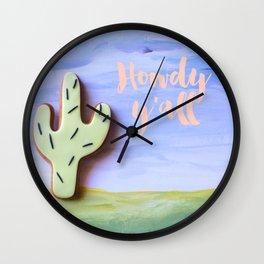 Howdy y'all Wall Clock