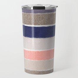Sofie - Modern watercolor abstract painting brushstrokes feminine pop dorm college hipster art pink Travel Mug