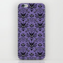 Purple Haunted Mansion Wallpaper iPhone Skin