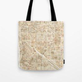 Tucson Arizona watercolor city map Tote Bag