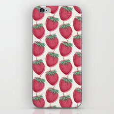 Strawberry Pattern iPhone & iPod Skin