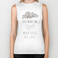 decal Biker Tanks featuring You Make Me Happy by Charlene McCoy