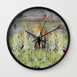 Zombie Garden Wall Wall Clock